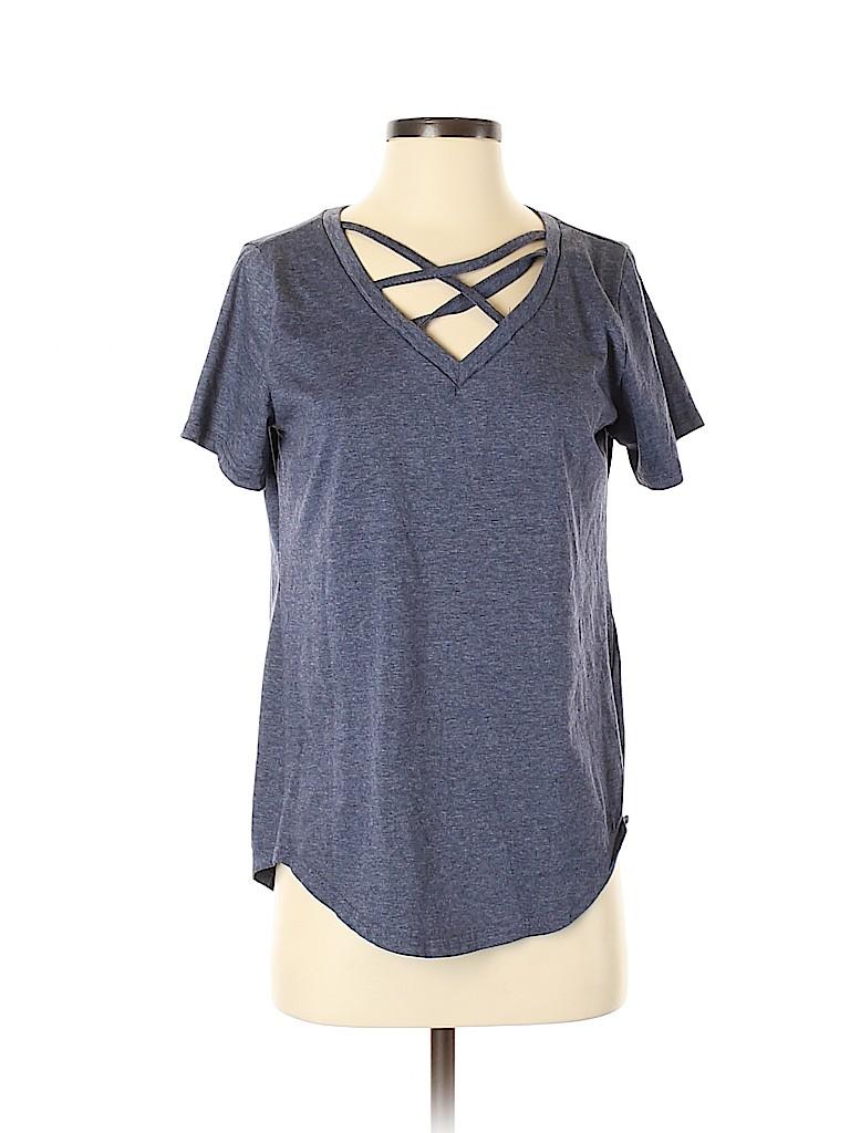 Amaryllis Women Short Sleeve Top Size S
