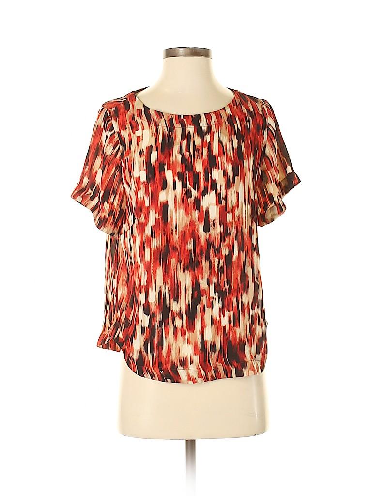 Harlowe & Graham Women Short Sleeve Blouse Size S