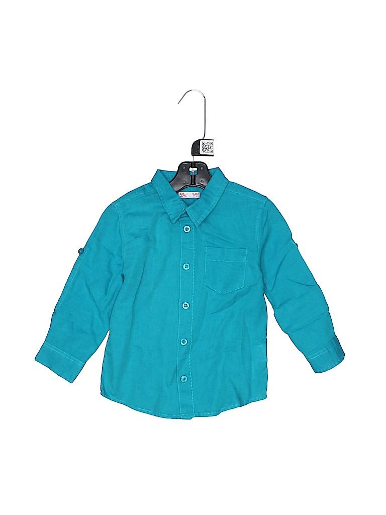 DPAM Boys Long Sleeve Button-Down Shirt Size 3T