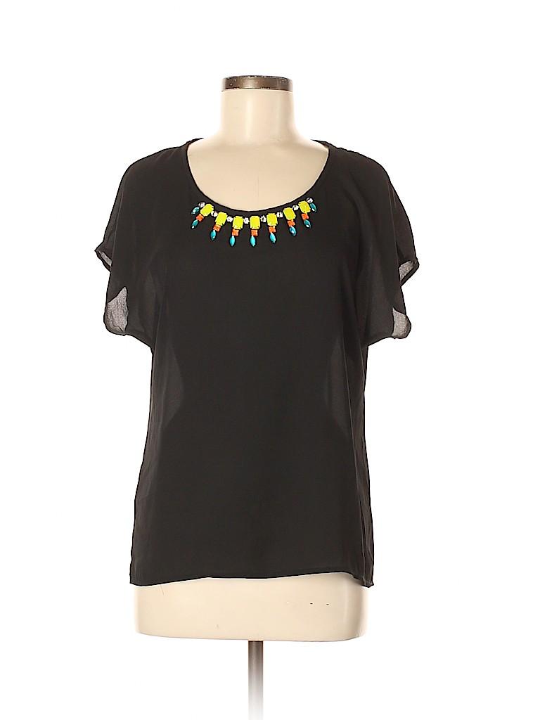 Eyeshadow Women Short Sleeve Blouse Size M