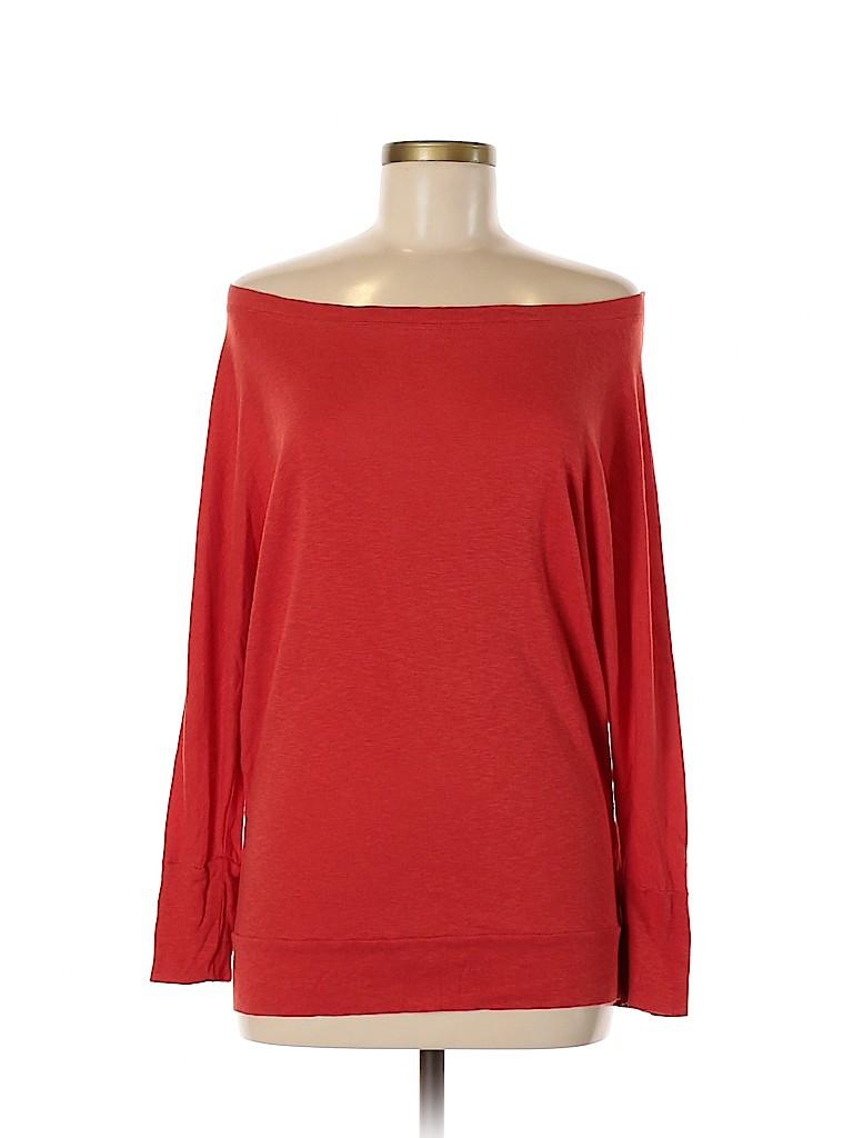 St. Tropez West Women Long Sleeve Top Size M