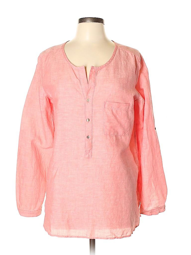 Max Edition Women Long Sleeve Button-Down Shirt Size L