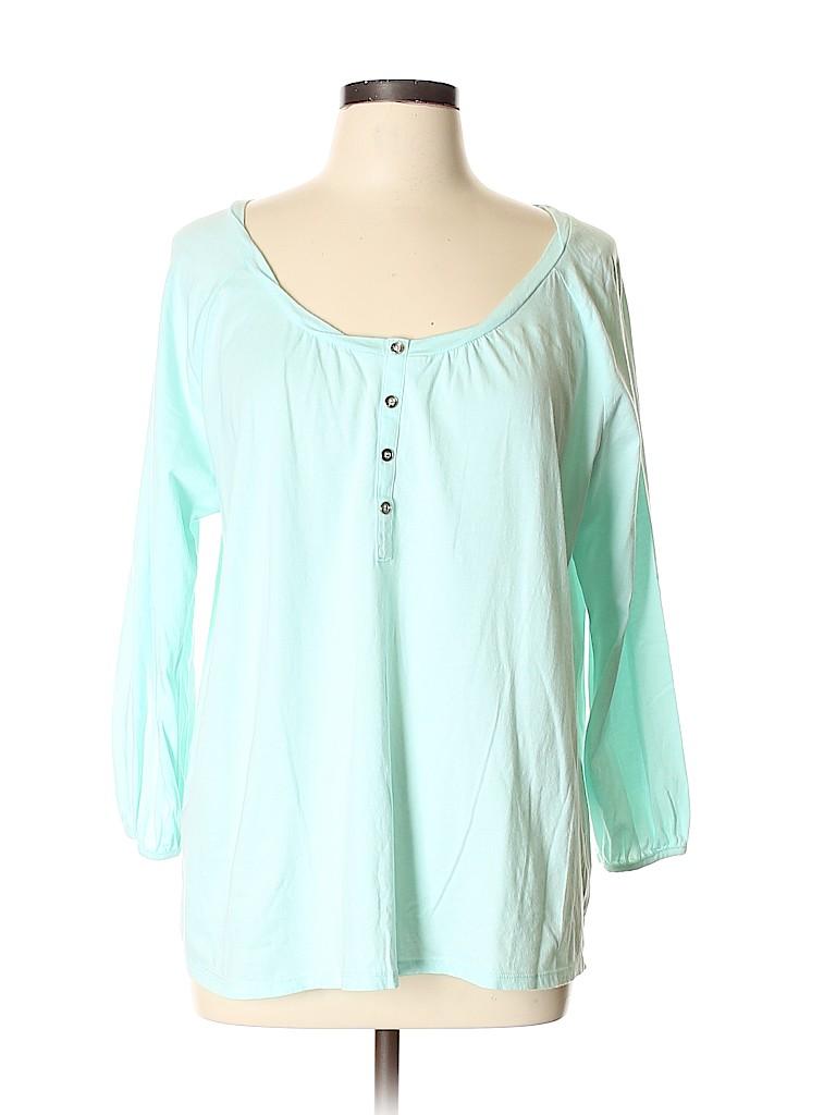 Basic Editions Women 3/4 Sleeve Henley Size XL