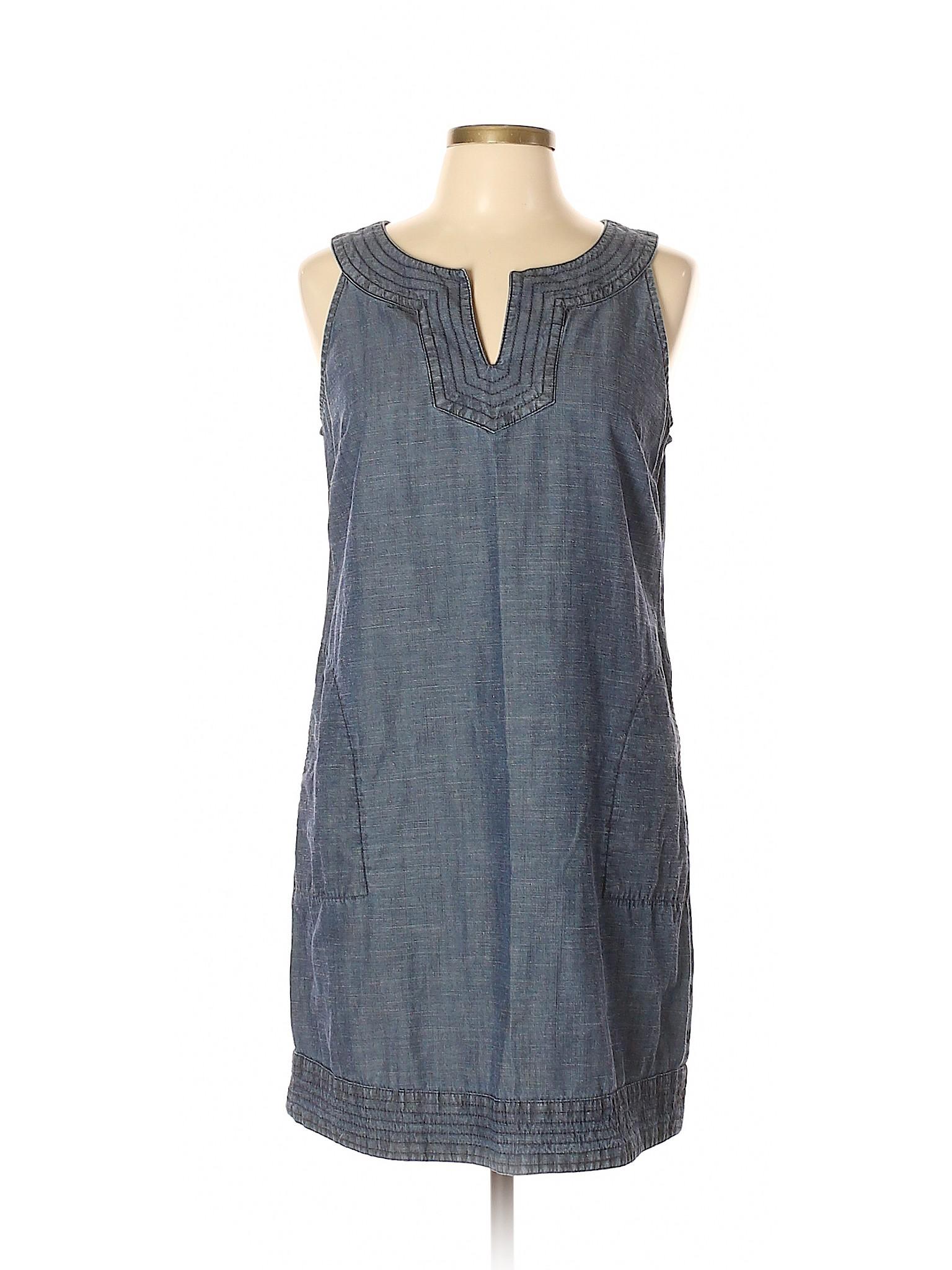 82a0009c5e9a0 J.Jill Women Blue Casual Dress Med Petite | eBay
