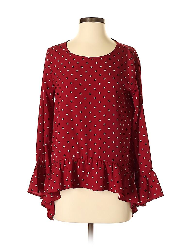 Harlowe & Graham Women Long Sleeve Blouse Size S