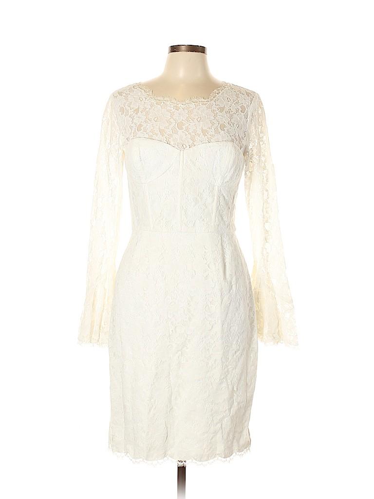 29d38fbb3f0 BCBGMAXAZRIA Lace Beige Cocktail Dress Size 12 - 77% off