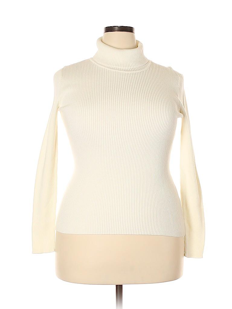 Basic Editions Women Turtleneck Sweater Size XXL