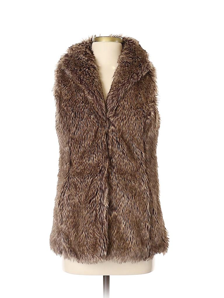 Brigitte Bailey Women Faux Fur Vest Size S