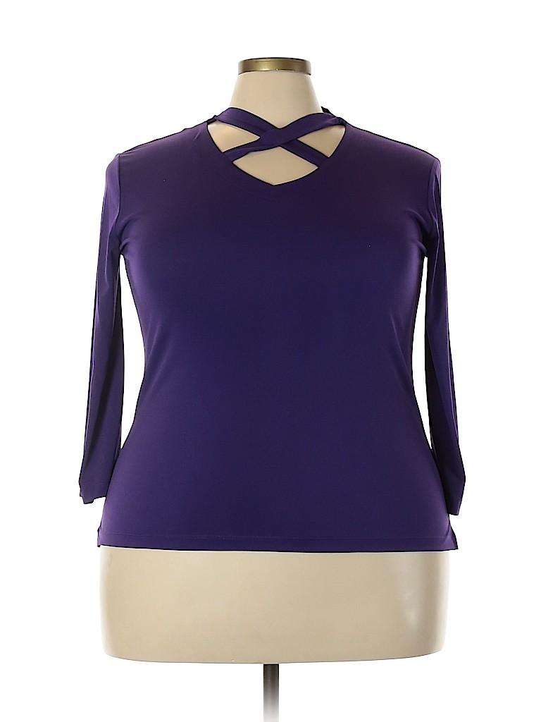 Jaclyn Smith Women Long Sleeve Blouse Size XXL