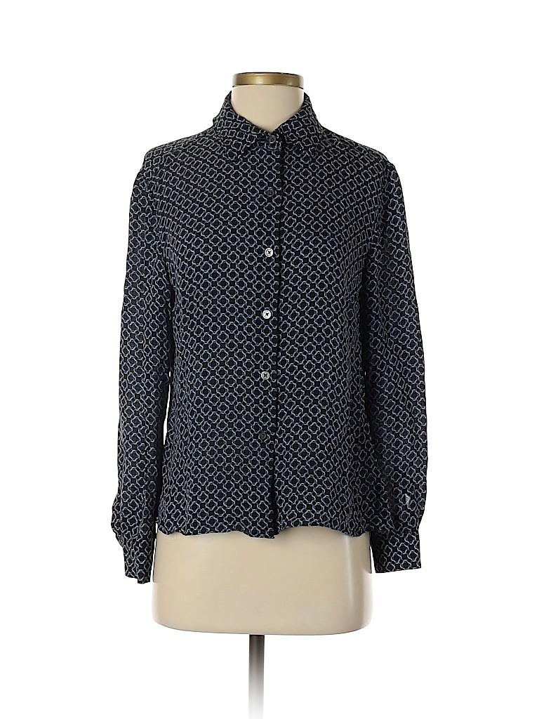 MICHAEL Michael Kors Women Long Sleeve Silk Top Size 10