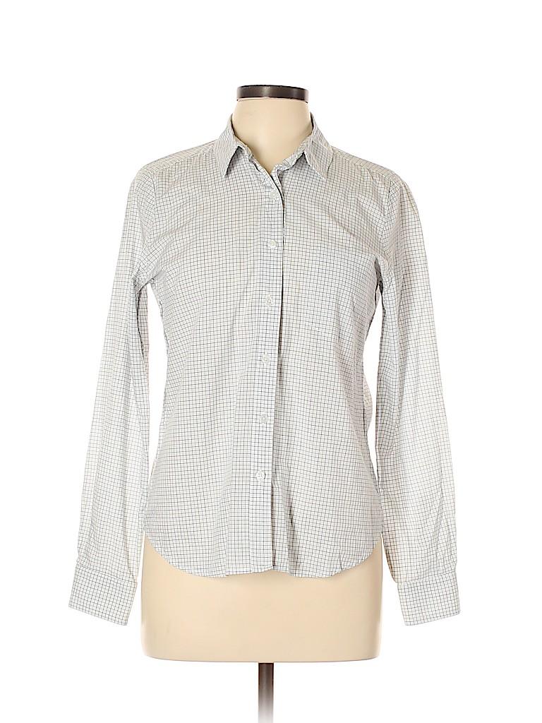 Steven Alan Women Long Sleeve Button-Down Shirt Size L