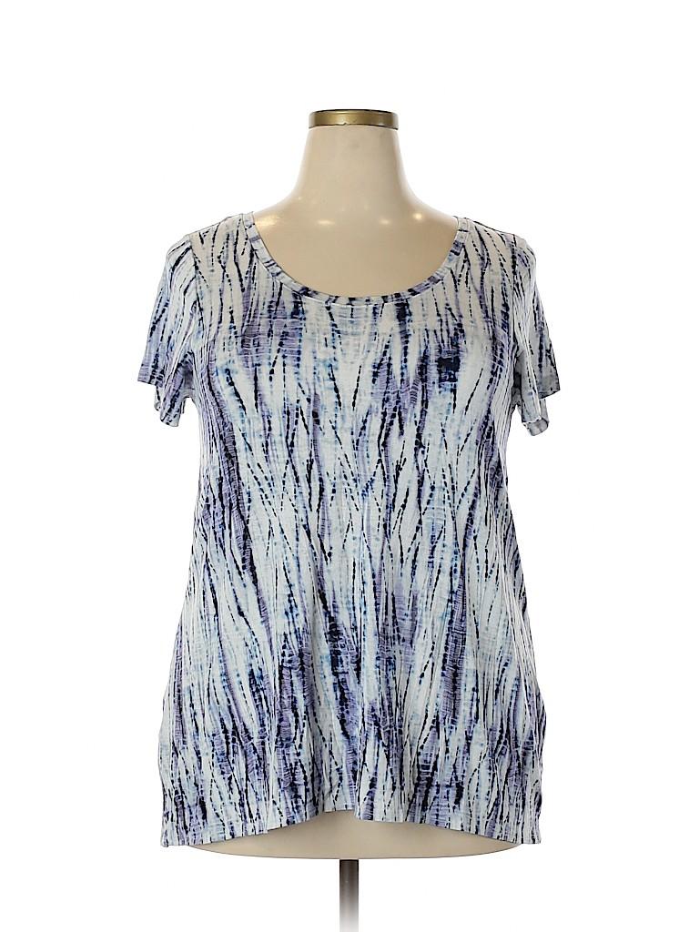 St. Tropez West Women Short Sleeve T-Shirt Size 1X (Plus)