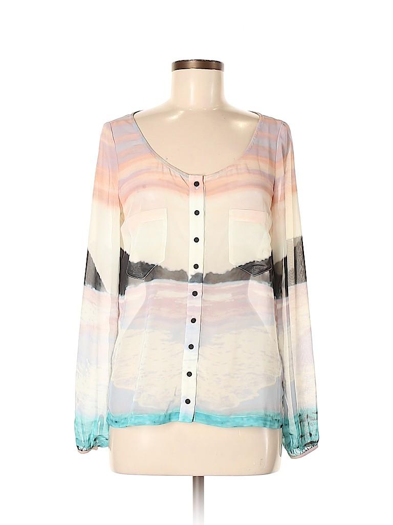 PJK Patterson J. Kincaid Women Long Sleeve Blouse Size S