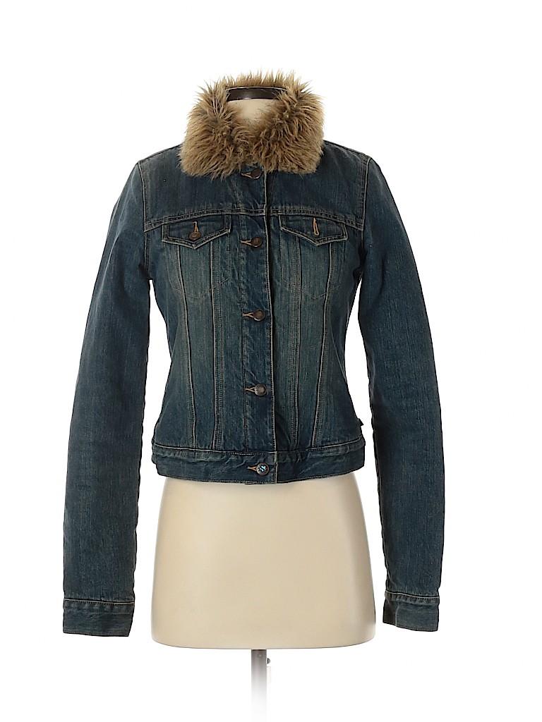 Abercrombie & Fitch Women Denim Jacket Size S