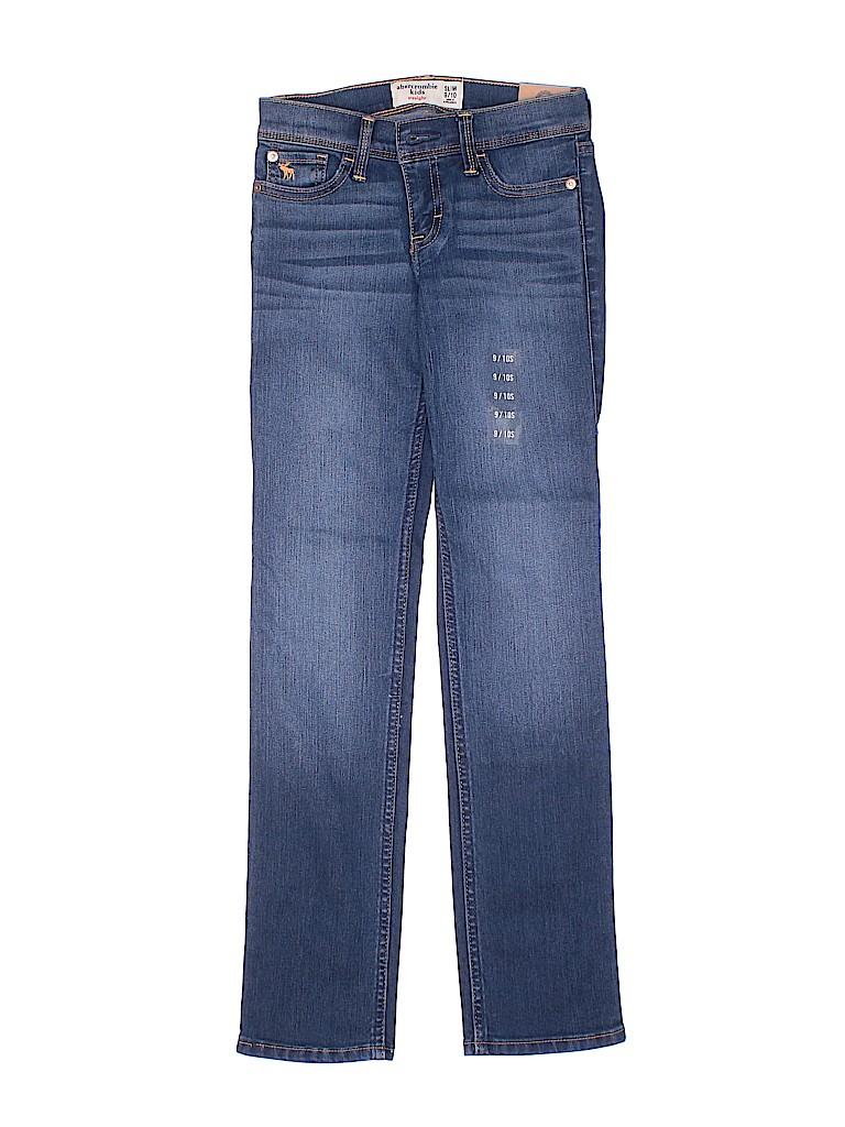 20f098f1b5273 Abercrombie Solid Blue Jeans Size 9 - 10 Slim (Slim) - 76% off | thredUP