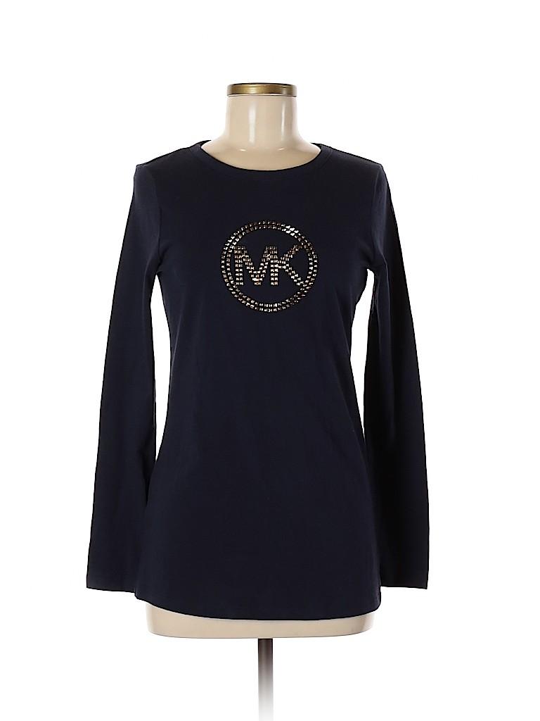 MICHAEL Michael Kors Women Long Sleeve T-Shirt Size S