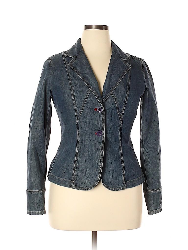 City DKNY Women Denim Jacket Size 10