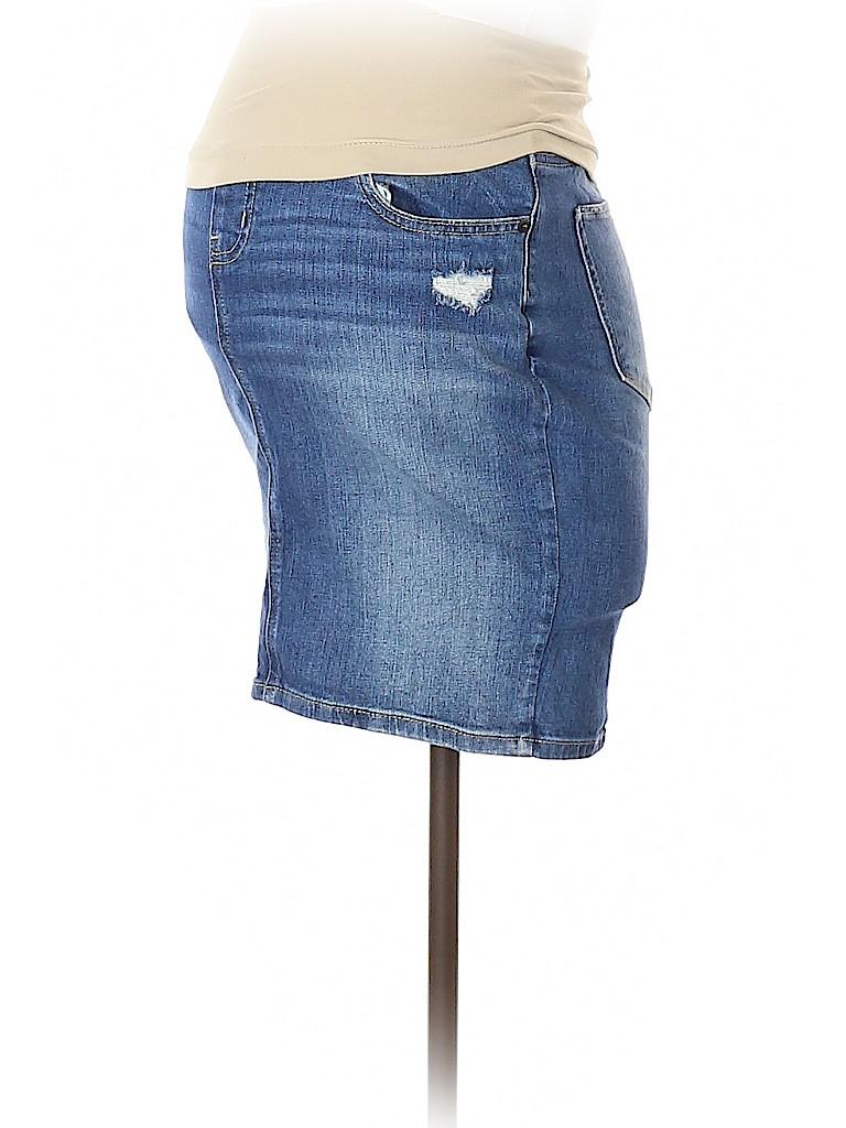 A Pea in the Pod Women Denim Skirt Size XS (Maternity)