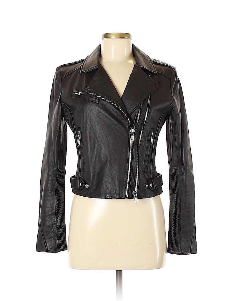 IRO Women Leather Jacket Size 40 (FR)