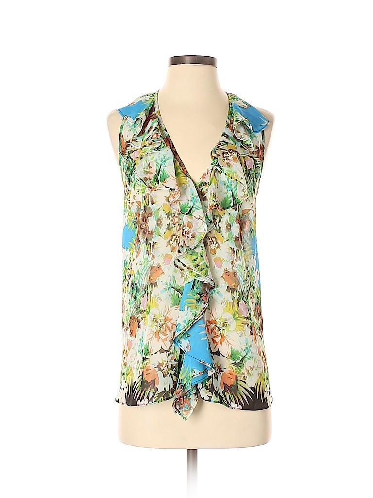 Bisou Bisou Women Sleeveless Blouse Size XS