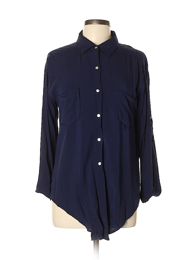 Max Studio Women Long Sleeve Button-Down Shirt Size L