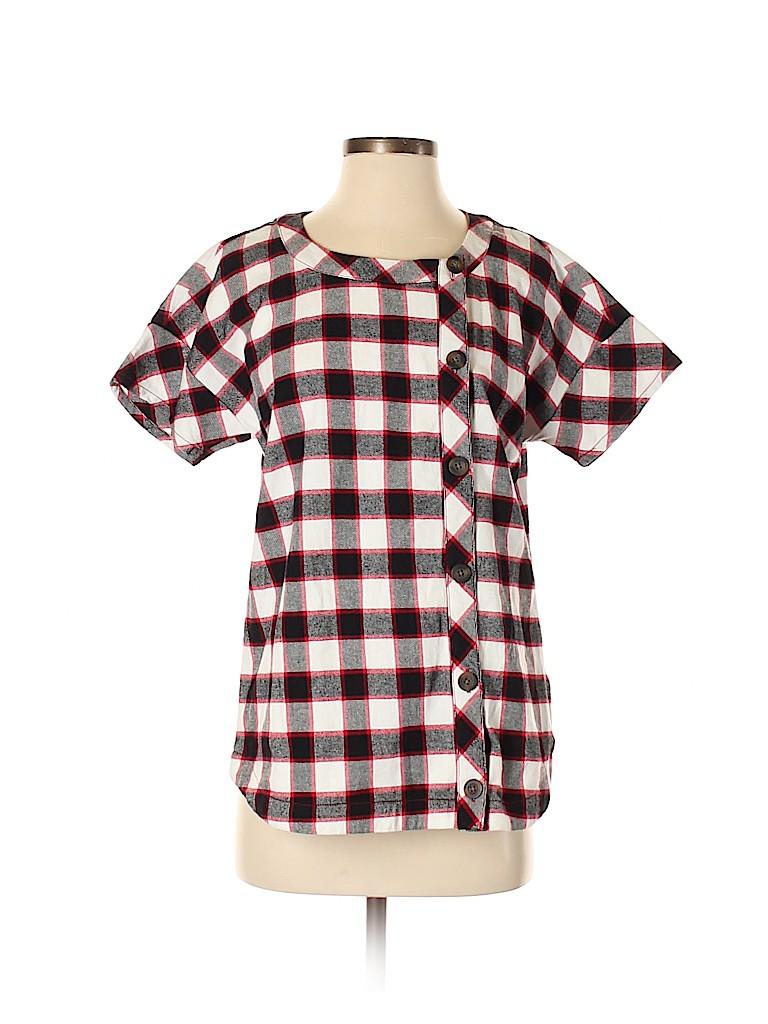 Love, Hanna Women Short Sleeve Blouse Size S