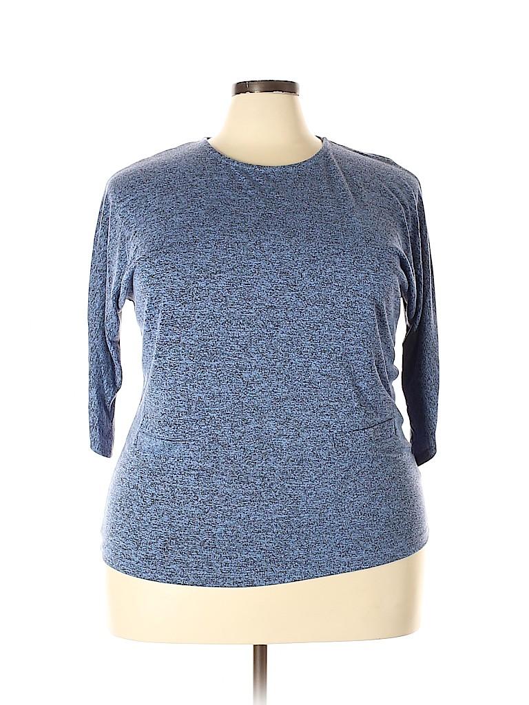 Premise Studio Women 3/4 Sleeve Blouse Size 1X (Plus)