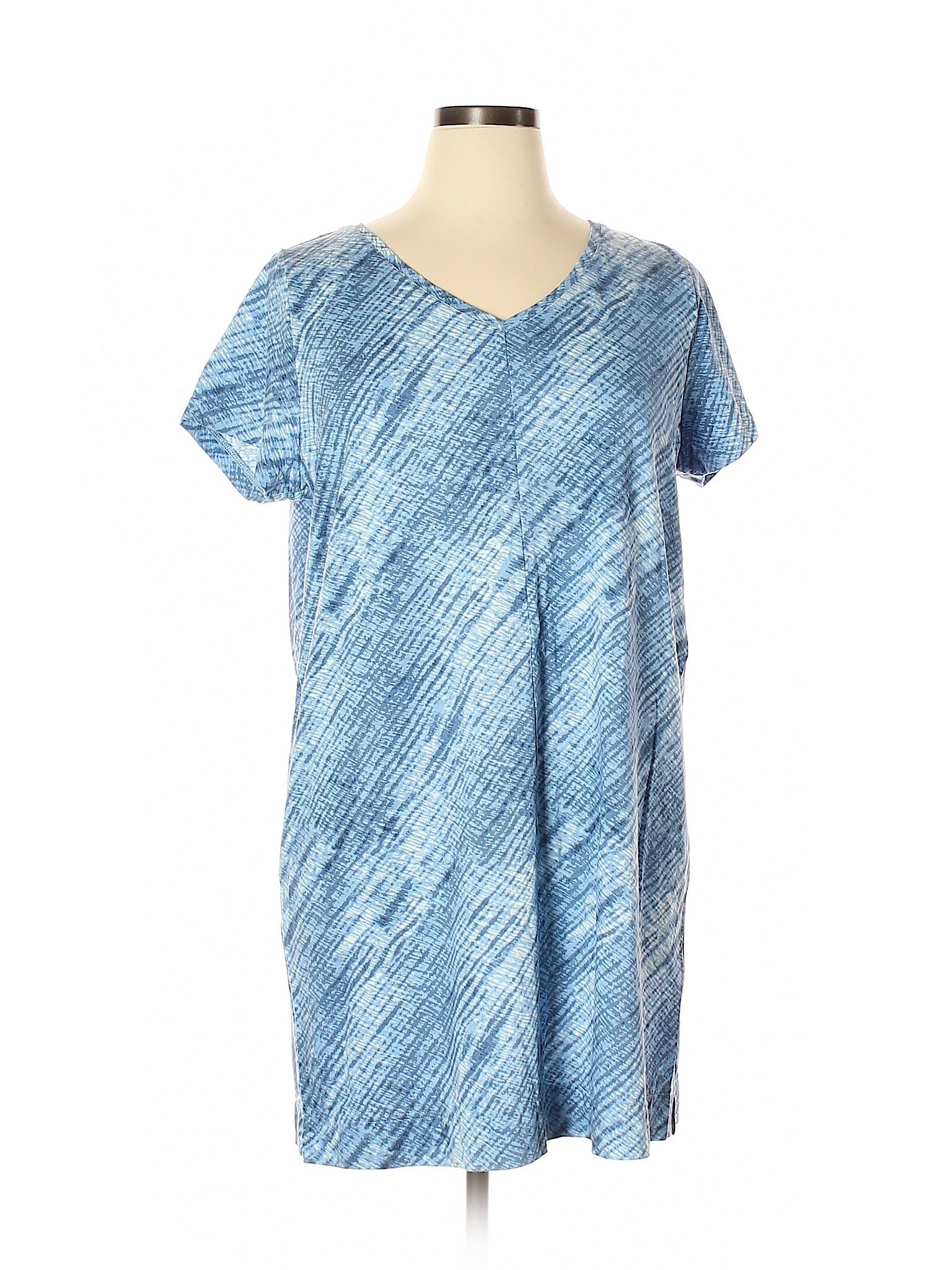 8182a767d48 Details about J.Jill Women Blue Casual Dress Xl Petite