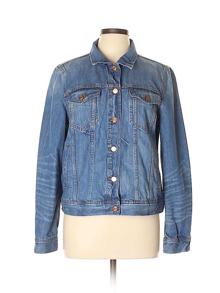 J. Crew Women Denim Jacket Size XL