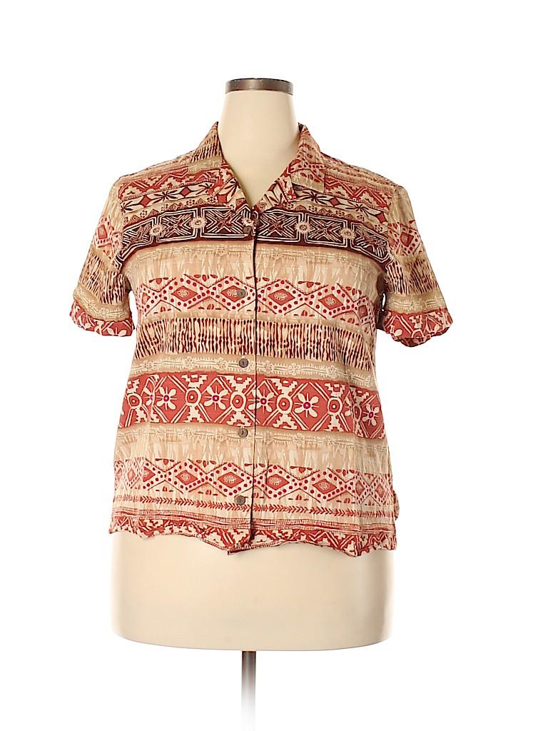 Alfred Dunner Women Short Sleeve Top Size 18 (Plus)