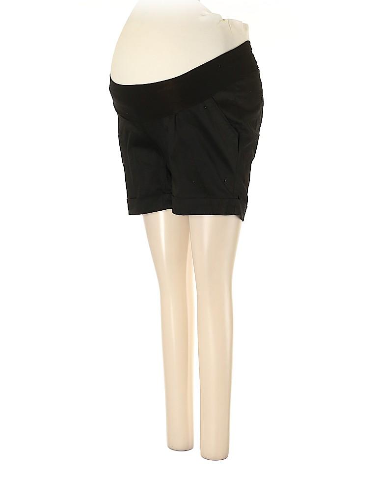 A Pea in the Pod Women Khaki Shorts Size XS (Maternity)