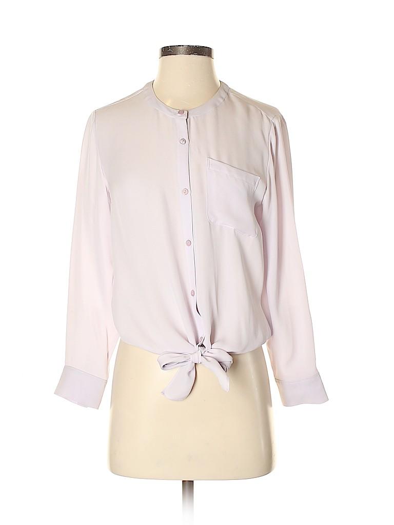 Theory Women Long Sleeve Silk Top Size S
