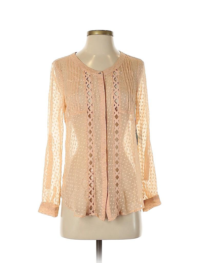 Meadow Rue Women Long Sleeve Silk Top Size XS