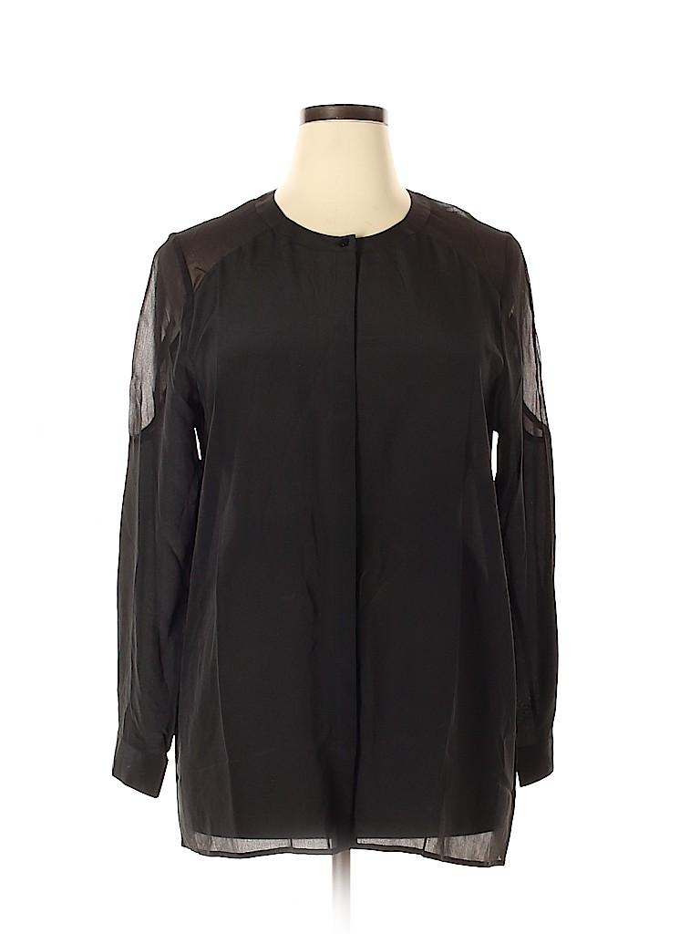 Lucky Brand Women Long Sleeve Silk Top Size XL