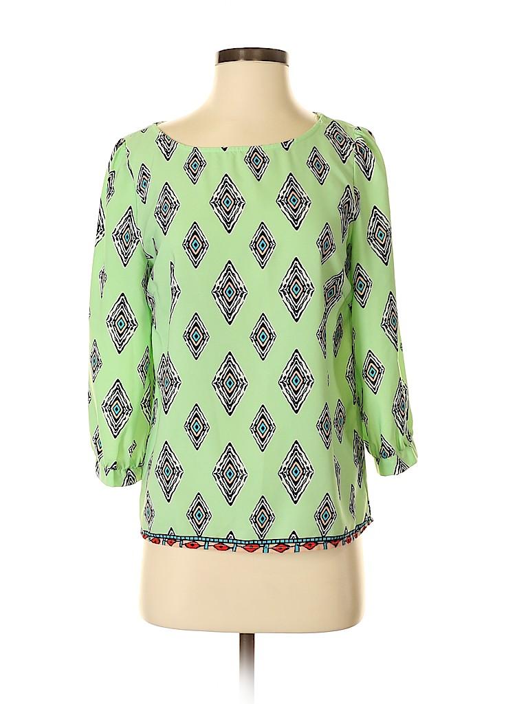 Pink Owl Women 3/4 Sleeve Blouse Size S