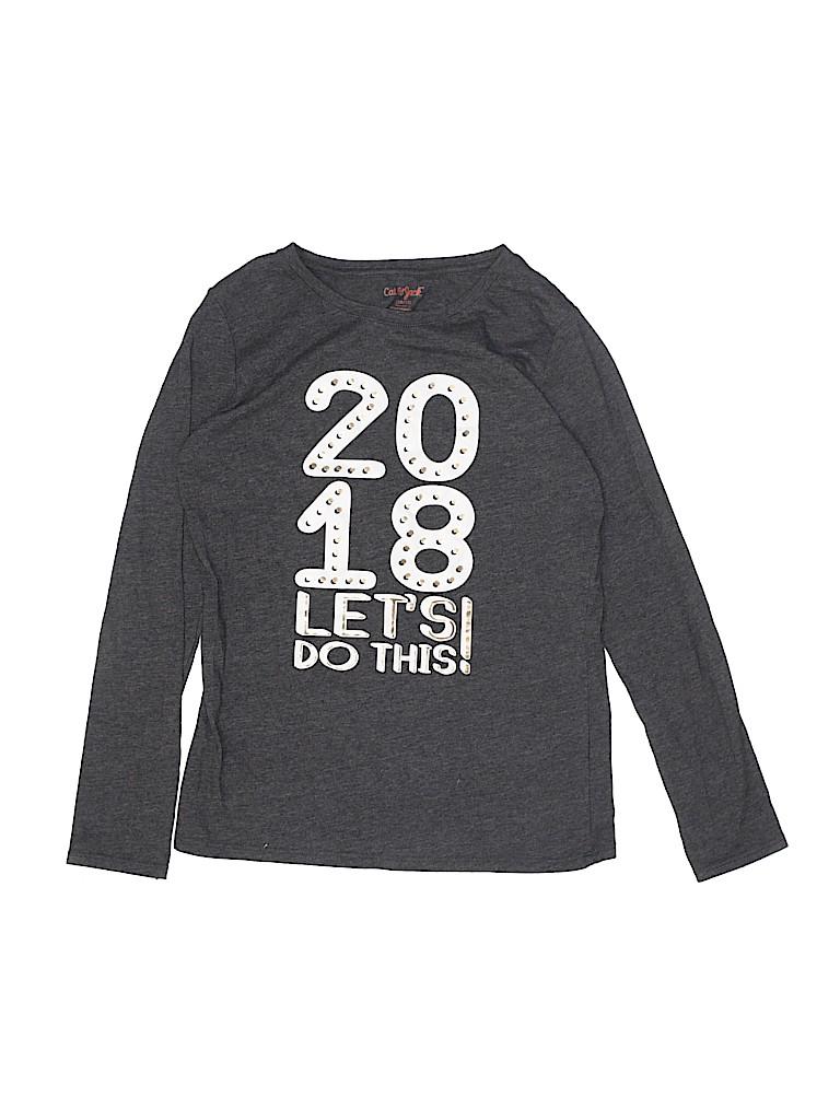 Cat & Jack Girls Long Sleeve T-Shirt Size 10 - 12
