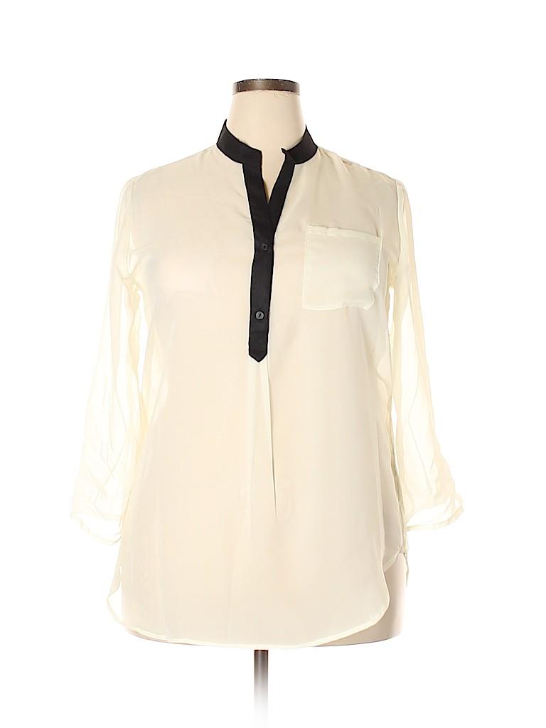 Mix & CO Women Long Sleeve Blouse Size 1X (Plus)