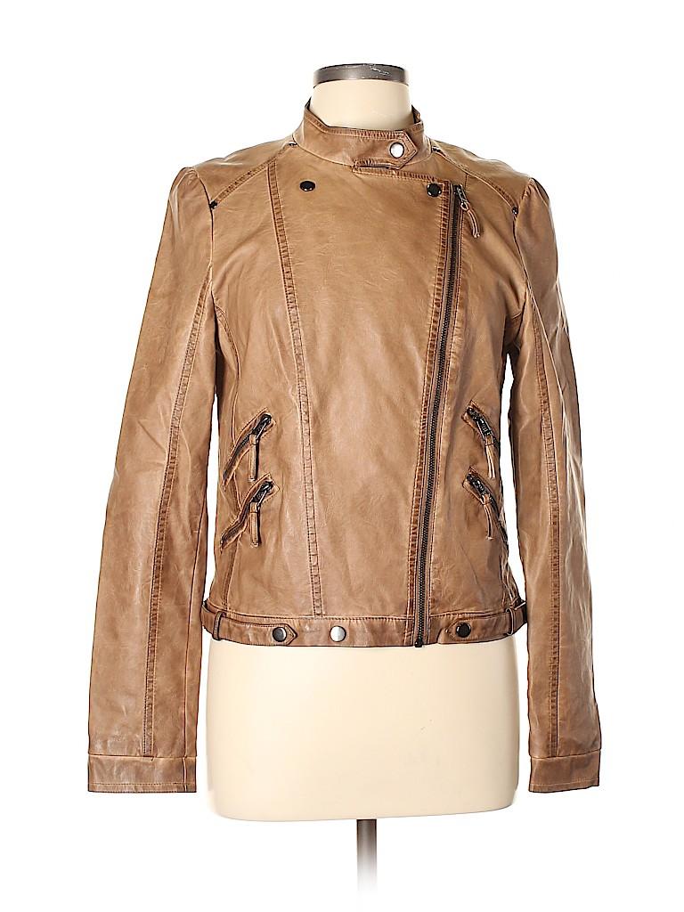 Blu Pepper Women Leather Jacket Size L