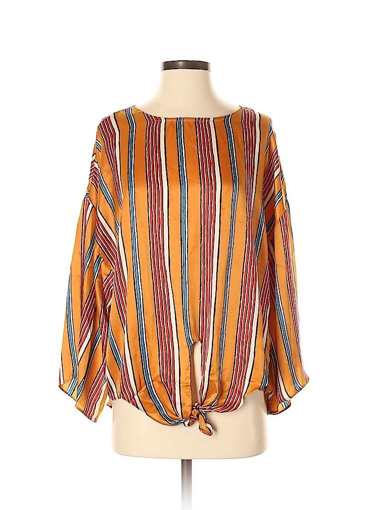 Entro Women Long Sleeve Blouse Size S