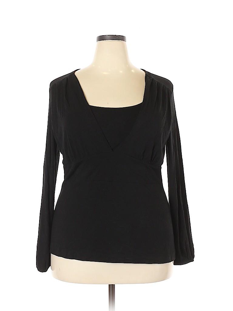 Alfani Women Long Sleeve Top Size 1X (Plus)