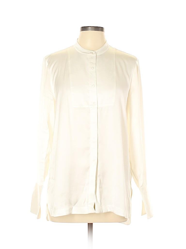 Canvas Women Long Sleeve Button-Down Shirt Size 10