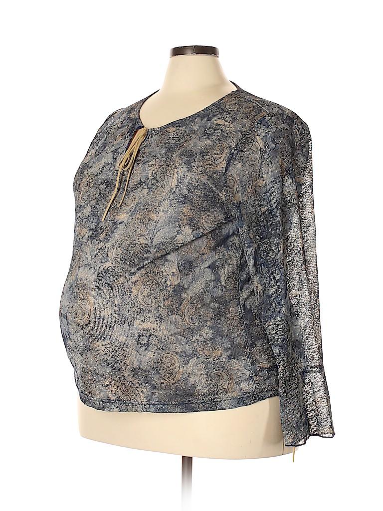 Avenue Women Long Sleeve Blouse Size 22 - 24 Maternity (Plus)