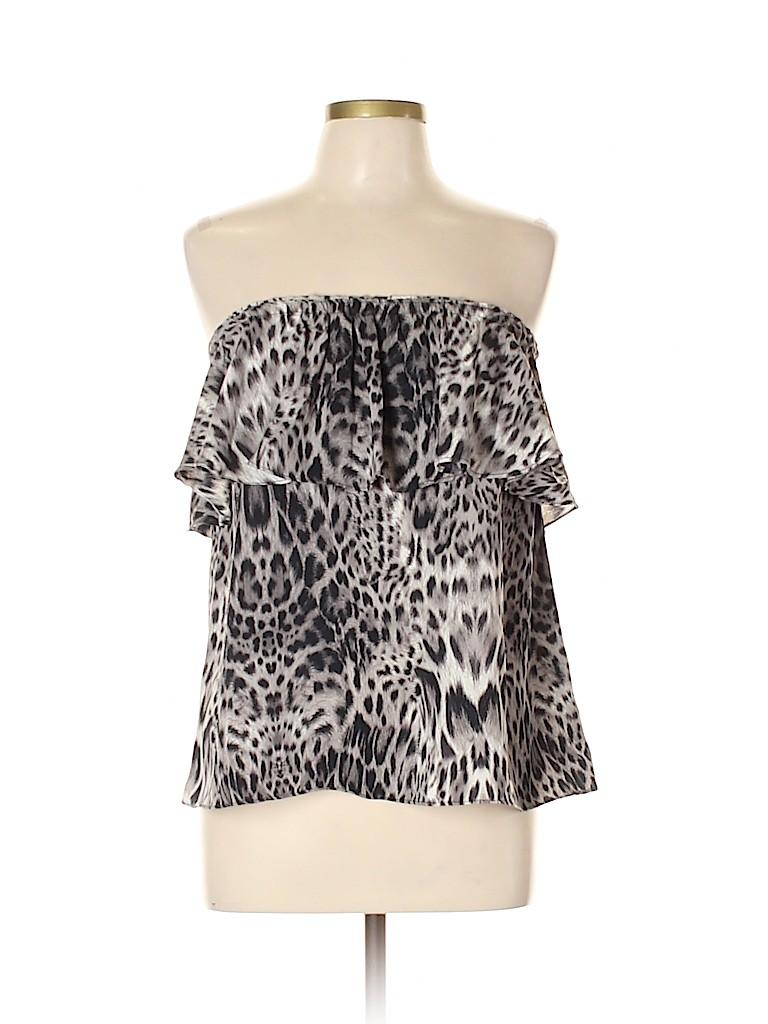 Olivaceous Women Sleeveless Blouse Size L