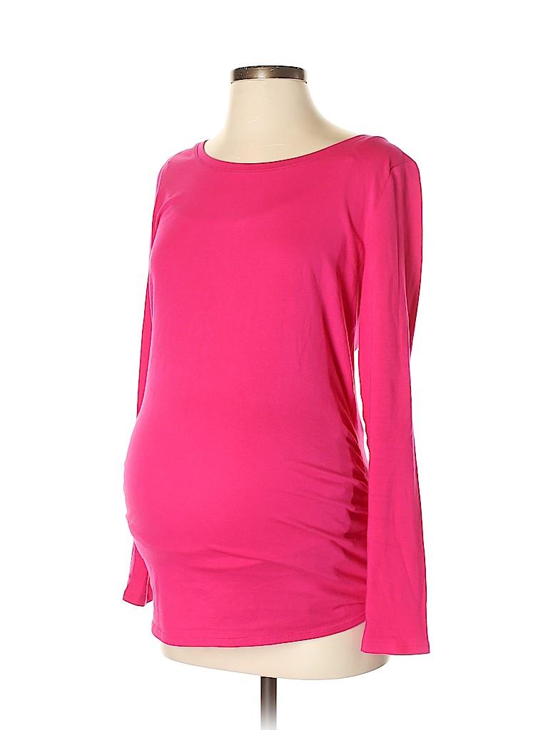 BumpStart Women Long Sleeve T-Shirt Size S (Maternity)