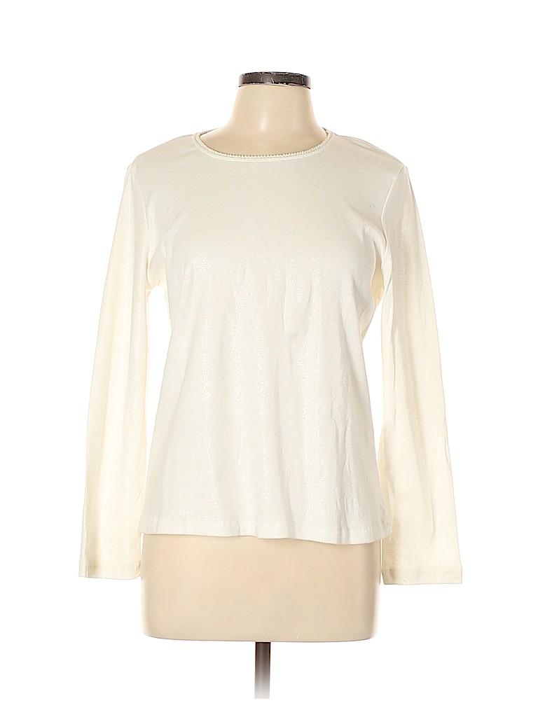 Basic Editions Women Long Sleeve T-Shirt Size L