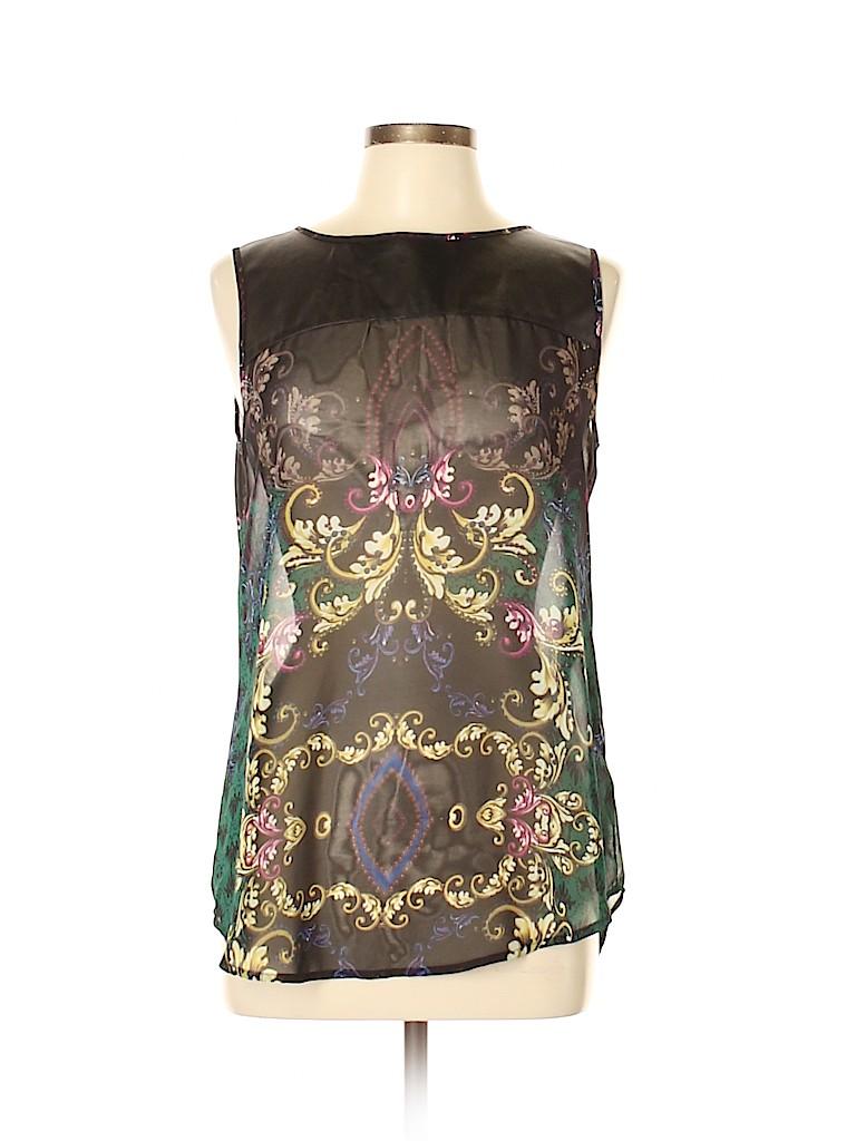 Bisou Bisou Women Sleeveless Blouse Size M