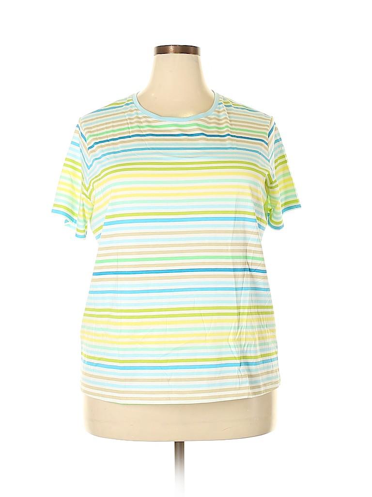 Lands' End Women Short Sleeve T-Shirt Size XL
