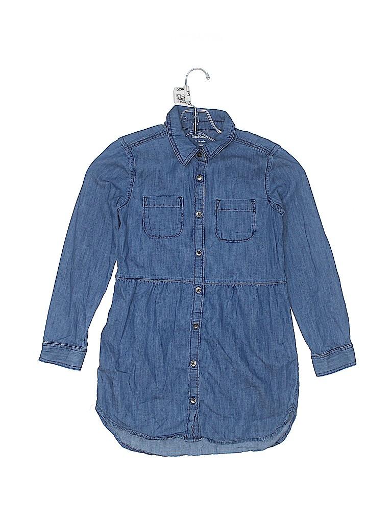 Gap Kids Girls 3/4 Sleeve Button-Down Shirt Size M (Kids)
