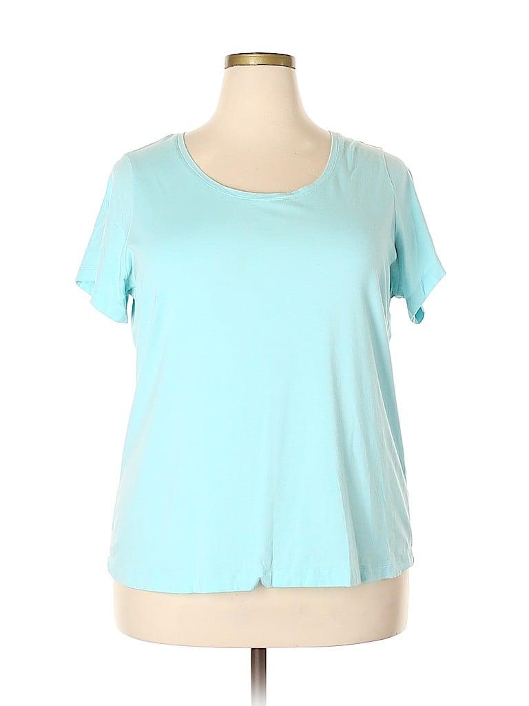 Lands' End Women Short Sleeve T-Shirt Size 2X (Plus)