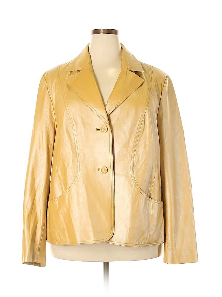 Lane Bryant Women Leather Jacket Size 22 - 24 Plus (Plus)